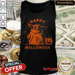 Baby Yoda Star Wars The Mandalorian The Child Happy Halloween Tank Top