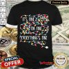 Funny It's Fine I'm Fine Everything Is Fine Christmas Lights Shirt- Design By Refinetee.com