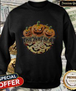 Halloween Presents Pumpkin Trick Or Treat SweatShirt