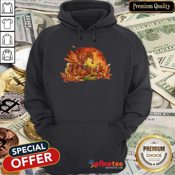 Halloween Pumpkin Dragon Fox Butterflies Hoodie