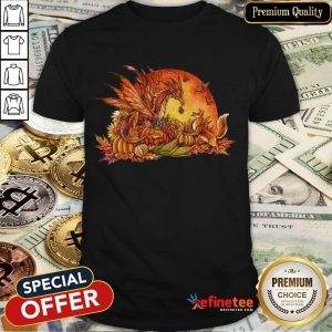 Halloween Pumpkin Dragon Fox Butterflies Shirt