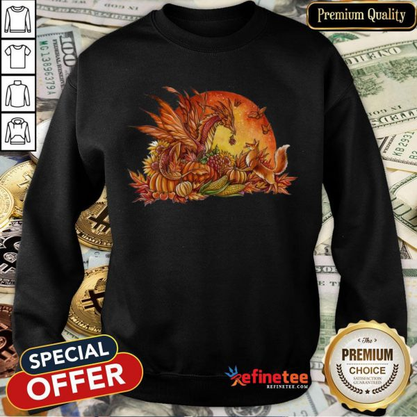 Halloween Pumpkin Dragon Fox Butterflies Sweatshirt