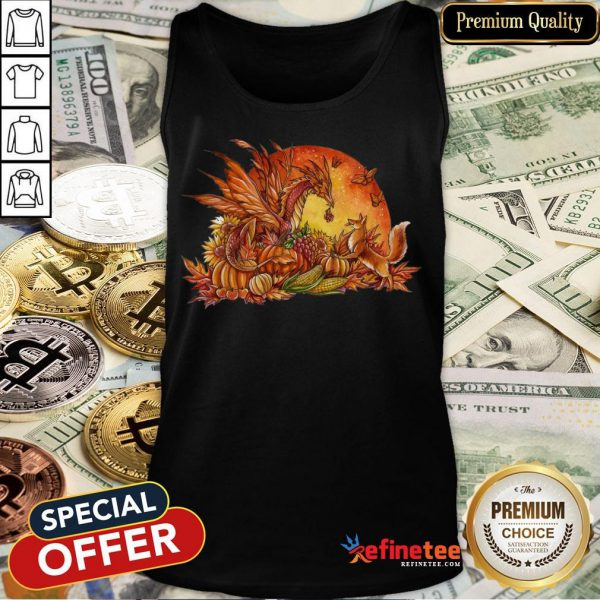 Halloween Pumpkin Dragon Fox Butterflies Tank Top