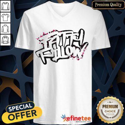 Happy Fattypillow V-neck- Design By Refinetee.com
