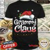 Happy Grammy Claus Santa Hat Matching Family Christmas Pajama Shirt- Design By Refinetee.com