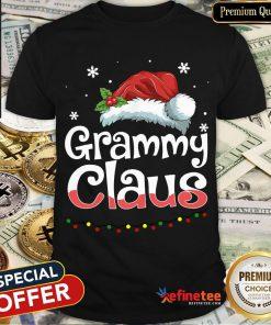 Happy Grammy Claus Santa Hat Matching Family Christmas Pajama Shirt- Design By Refinetee.com