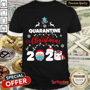Happy Xmas Quarantine Christmas 2020 Social Distancing Christmas Shirt- Design By Refinetee.com
