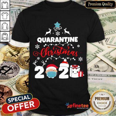 Happy Xmas Quarantine Christmas 2020 Social Distancing Christmas Shirt- Design By Refinetee.com