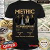 Hot Metric 22Nd Anniversary 1998 2020 Thank You For The Memories Signatures Shirt- Design By Refinetee.com
