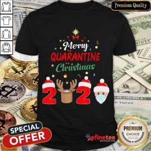 Merry Quarantine Christmas 2020 Xmas Pajamas Holidays Shirt