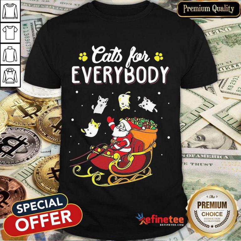 Nice Santa Cats For Everybody Christmas Shirt- Design By Refinetee.com