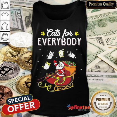 Nice Santa Cats For Everybody Christmas Tank Top- Design By Refinetee.com