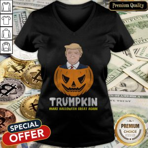 Nice Trumpkin Make Halloween Great Again V-neck