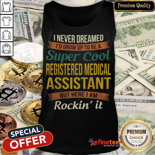 Official Registered Medical Assistant Tank Top- Design By Refinetee.com