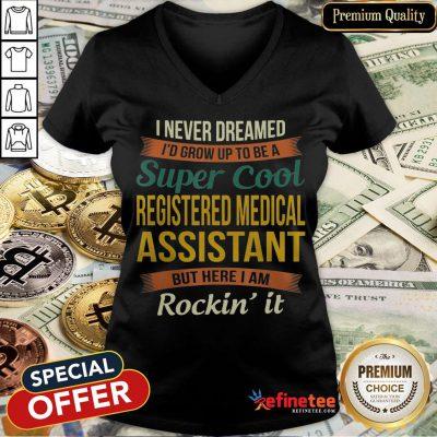 Official Registered Medical Assistant V-neck- Design By Refinetee.com