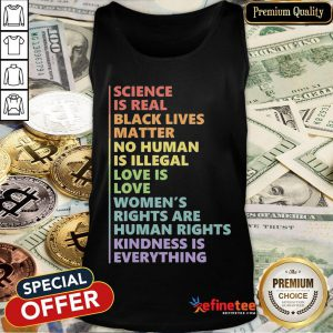 Official Science Is Real Black Lives Matter Rainbow Lgbt Pride Blm Tank Top- Design By Refinetee.com