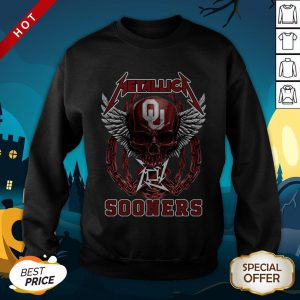 Official Skull Metallica Sooners SweatShirt