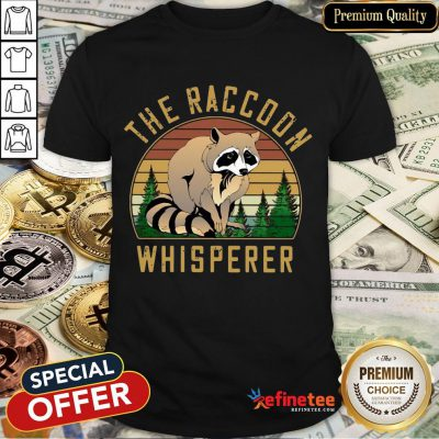 Official The Racoon Whisperer Vintage Retro Shirt