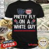 Pretty Fly On A White Guyfly On Pence Head Funny Vp Debate Shirt