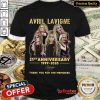Top Avril Lavigne 21St Anniversary 1999 2020 Thank You For The Memories Signature Shirt- Design By Refinetee.com