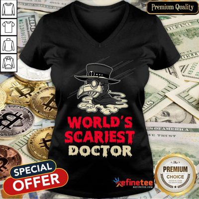 Worlds Scariest Doctor Plague Halloween Costume Lazy Easy V-neck
