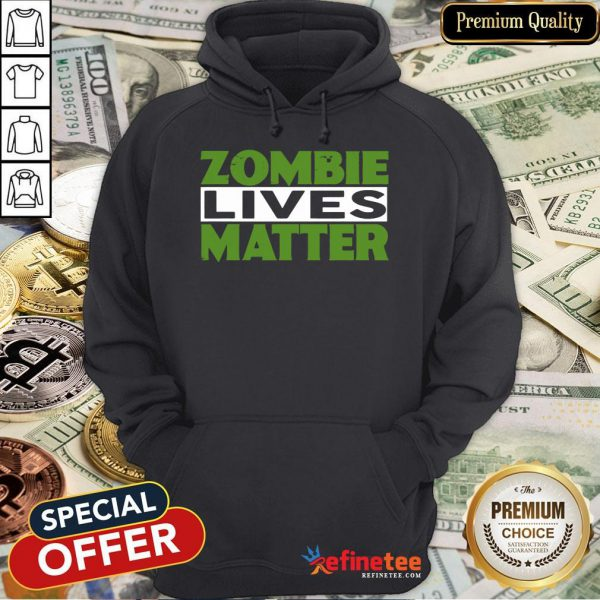 Zombie Lives Matter Halloween Witch Hoodie