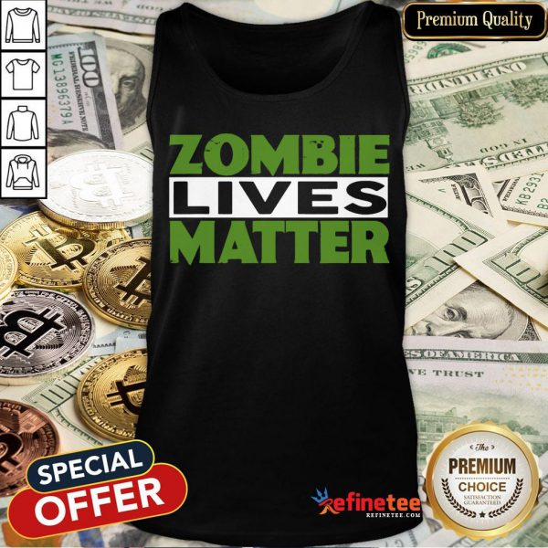 Zombie Lives Matter Halloween Witch Tank Top