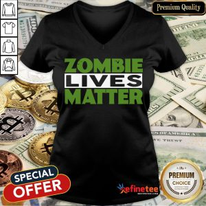 Zombie Lives Matter Halloween Witch V-neck