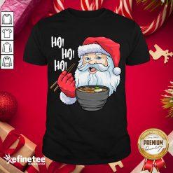 Awesome Santa Ramen Noodles Shirt Christmas Japanese Noodles Shirt- Design By Refinetee.com
