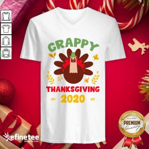 Beautiful Crappy Thanksgiving 2020 V-neck - Design By Refinetee.com