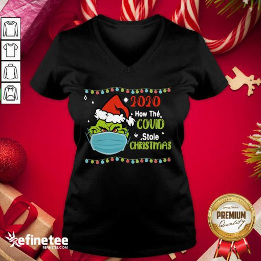 Fantastic Grinch 2020 How Covid Stole Christmas Fantastic Grinch 2020 How Covid Stole Christmas V-neck - Design By Refinetee.com