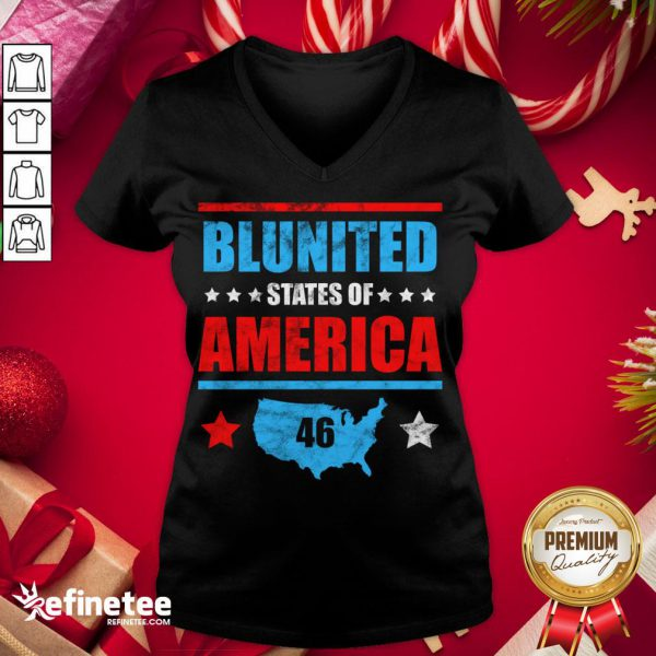 Funny Joe Biden United States Of America 46 V-neck - Design By Refinetee.com