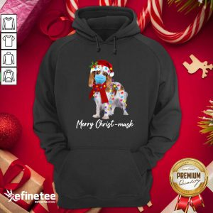Funny Merry Christ Mask Merry Christmas Light Hoodie - Design By Refinetee.com