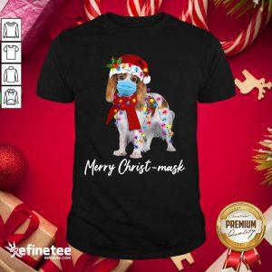 Funny Merry Christ Mask Merry Christmas Light Shirt - Design By Refinetee.com