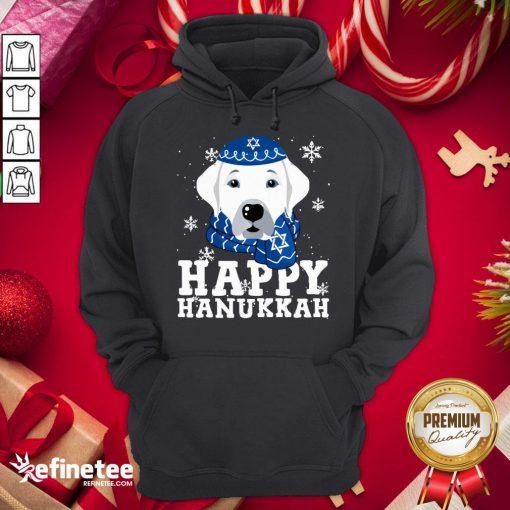 Funny Merry Christmas Happy Hanukkah Labrador Retriever Dog Funny Xmas Hoodie - Design By Refinetee.com