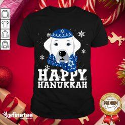 Funny Merry Christmas Happy Hanukkah Labrador Retriever Dog Funny Xmas Shirt- Design By Refinetee.com