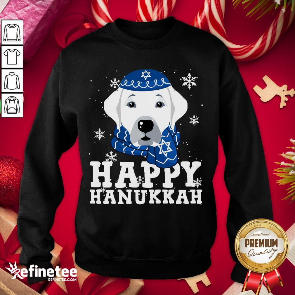 Funny Merry Christmas Happy Hanukkah Labrador Retriever Dog Funny Xmas Sweatshirt - Design By Refinetee.com