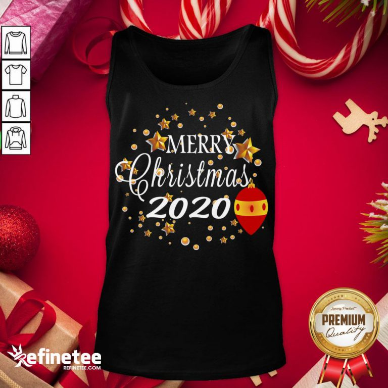 Good Merry Christmas 2020 Humor With Stars Cute Funny Great Gift Tank-Top - Design By Refinetee.com