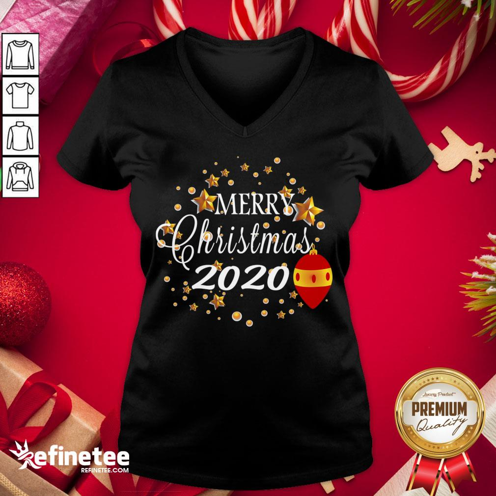 Good Merry Christmas 2020 Humor With Stars Cute Funny Great Gift V-neck - Design By Refinetee.com