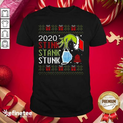 Hand Grinch Holding Mask 2020 Stink Stank Stunk Ugly Christmas Shirt - Design By Refinetee.com