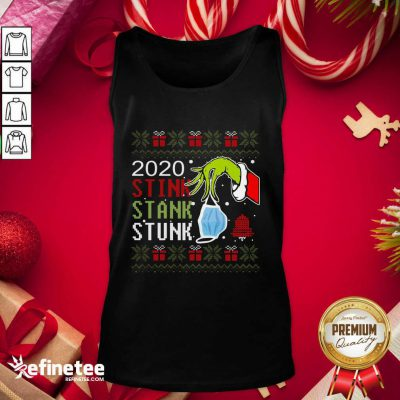 Hand Grinch Holding Mask 2020 Stink Stank Stunk Ugly Christmas Tank Top - Design By Refinetee.com