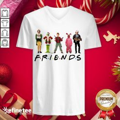 Happy Characters Elf Grinch Kevin Friends Christmas V-neck - Design By Refinetee.com
