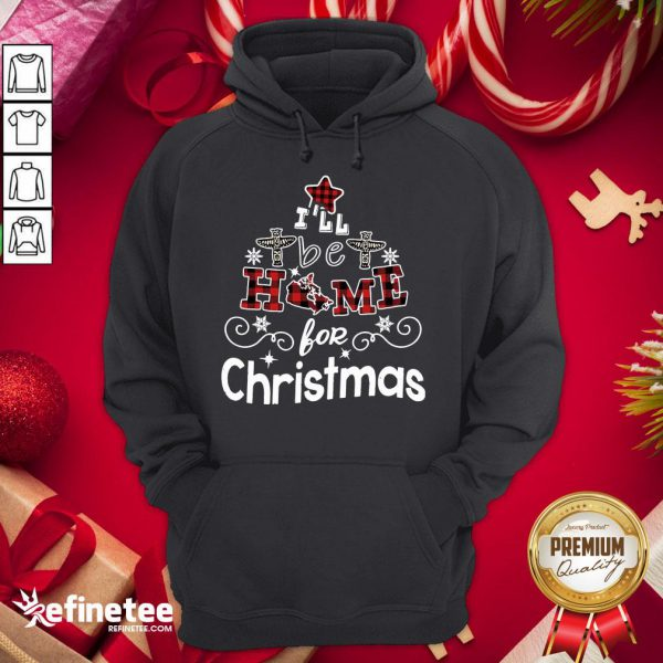 Happy I'll Be Home For Christmas Hoodie - Design By Refinetee.com