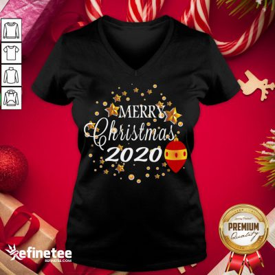 Happy Merry Christmas 2020 Humor With Stars Cute Funny Great Gift V-neck - Design By Refinetee.com