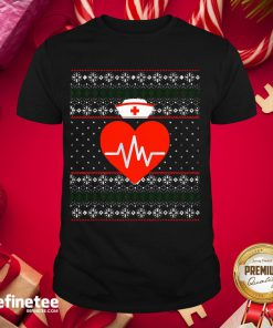 Happy Nurse Ugly Sweater Merry Christmas Nursing Holiday Shirt- Design By Refinetee.com