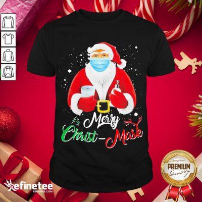 Hot Santa Face Mask Merry Christmas 2020 Quarantine Shirt- Design By Refinetee.com