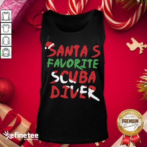 Hot Santa's Favorite Scuba Diver Tank-Top - Design By Refinetee.com