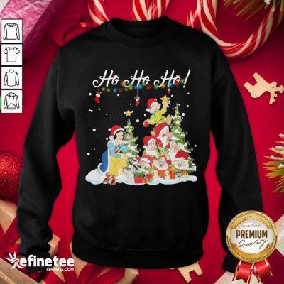 Hot Snow White The Seven Dwarfs Santa Ho Ho Ho Christmas Sweatshirt - Design By Refinetee.com