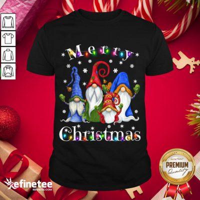 Official Gnome Christmas Pajamas Garden Gnome Merry Christmas Sweater Shirt- Design By Refinetee.com