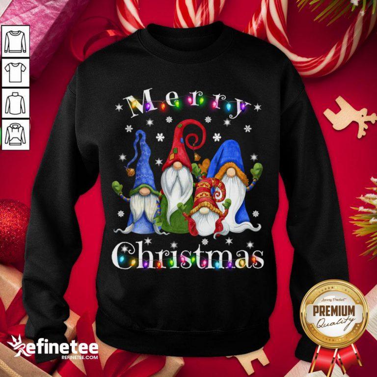 Official Gnome Christmas Pajamas Garden Gnome Merry Christmas Sweater Sweatshirt - Design By Refinetee.com